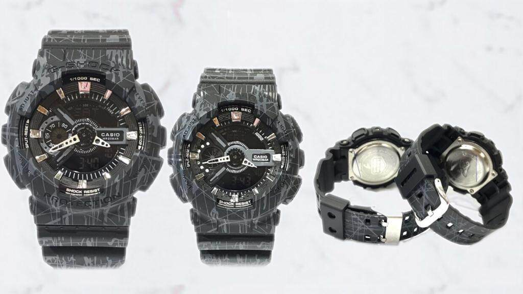 Fashion_Casio_G-Shock_Couple GA-110 &_BaBy-G_BGA-110 Dual Time Display Set For Men & Women With Own Heart Gift Box Mineral Glass New Sport Casual Follow Us For More