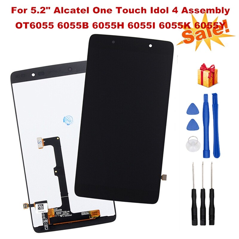 For 5.2 Alcatel Idol 4 6055B/H/I/K/ LCD Display Touch Screen Digitizer Assembly