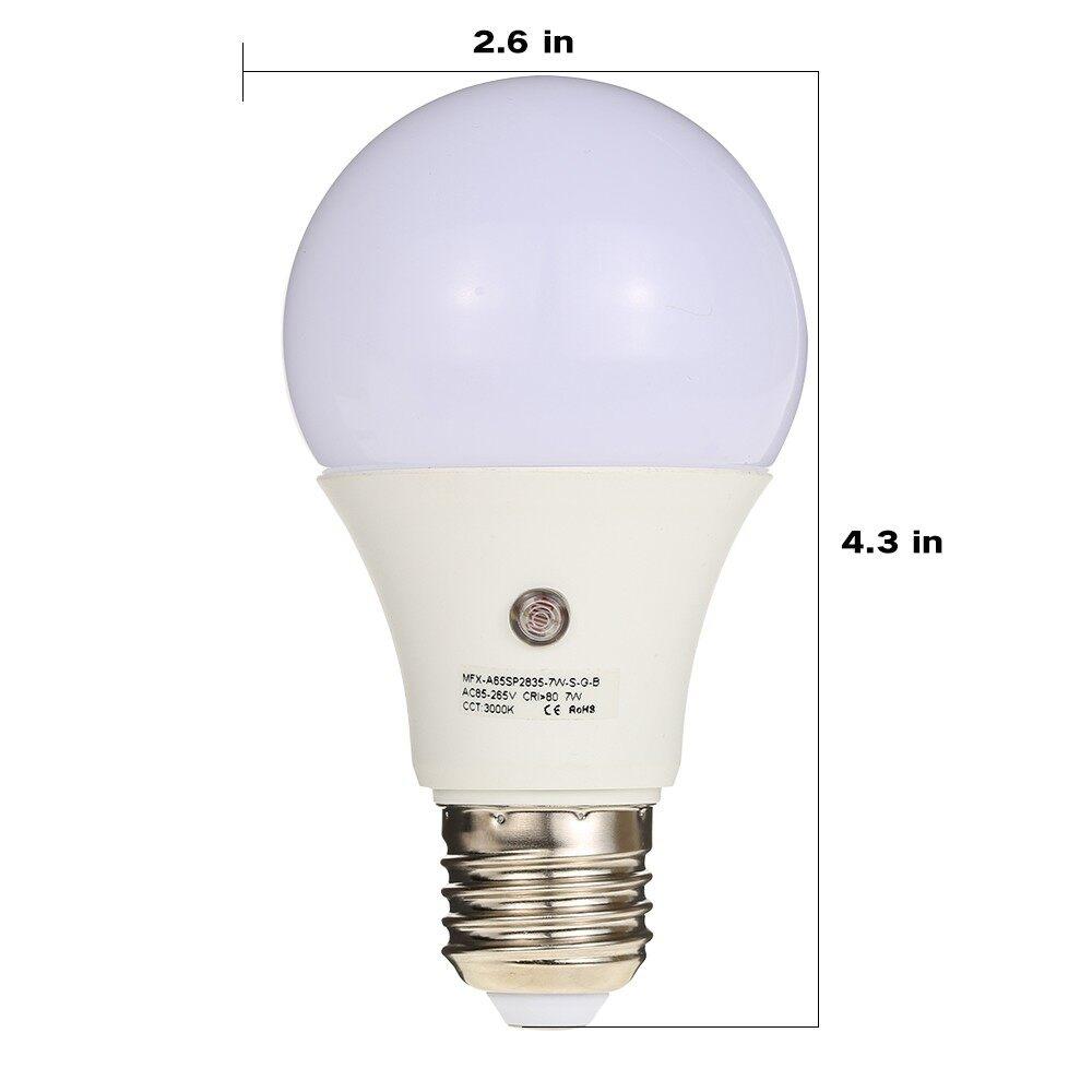 Lighting - 7W E27 Dusk to Dawn 360 Degree Sensor Light Bulb SMD2835 AC-240V 630LM - WARM WHITE-7W / WHITE-9W / WARM WHITE-9W / WHITE-7W
