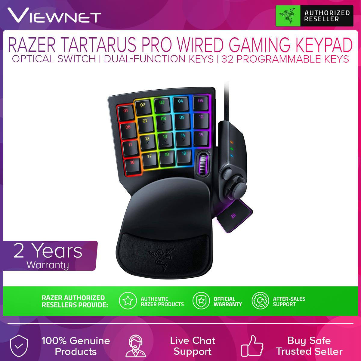 Razer Tartarus Pro Optical Gaming Keypad, RGB, Dual-function keys, 8 Quick-toggle profiles, 32 Programmable keys