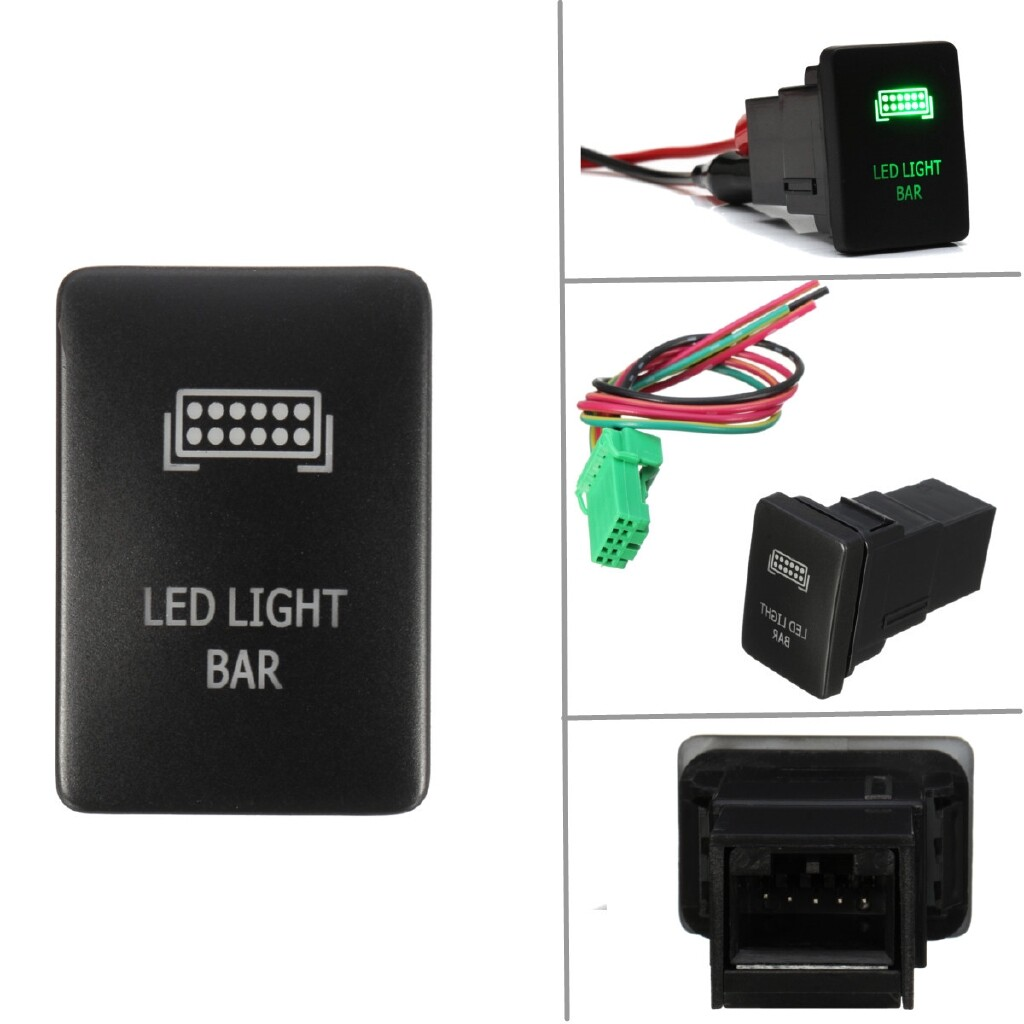 Car Lights - Push Switch Green Etching LED Light Bar For Toyota Highlander 08 Taco2012-up - Replacement Parts