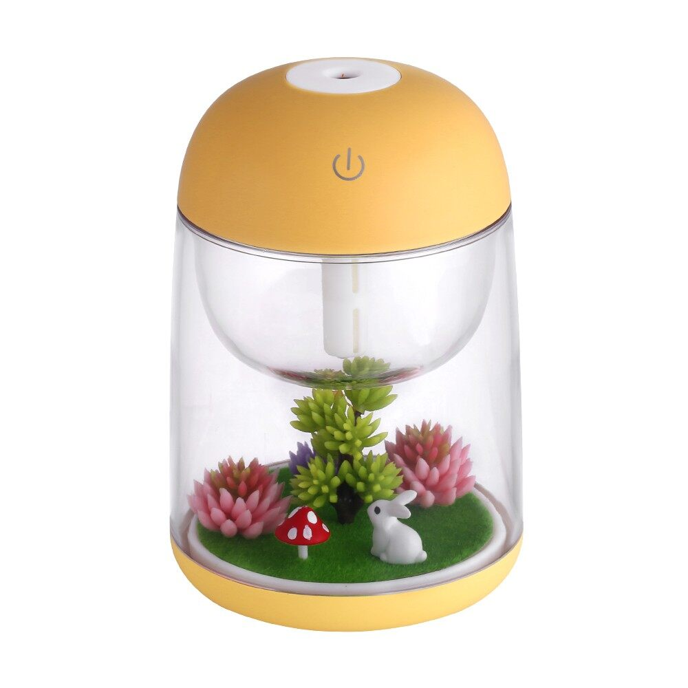 Humidifiers & Air Purifiers - MINI Transparent Micro-landscape Air Humidifier Spray Air Purifier AroDiffuse - BLUE / GREEN / PINK / YELLOW