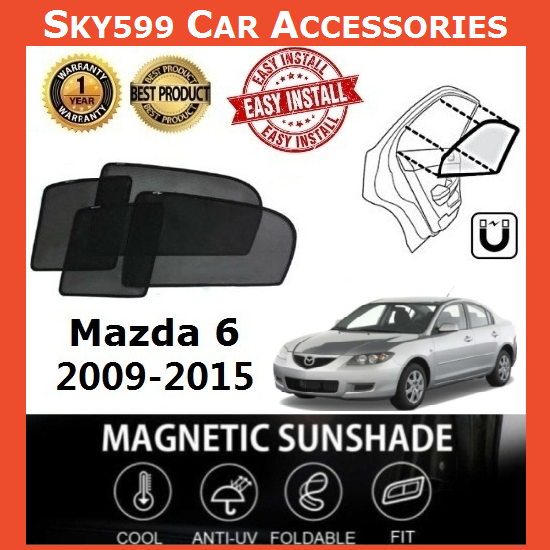 Mazda 6 2008-2012 Magnetic Sunshade [4 PCS]