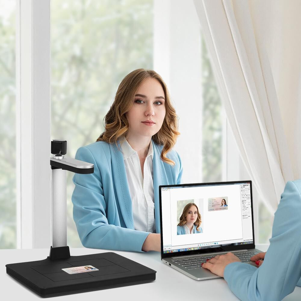 Printers & Projectors - HD Document Camera Scanner 10 Mege-Pixels with Dual-camera AI Technology Fill-in Light - BLACK