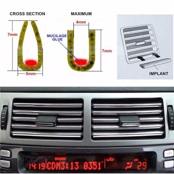 Car Lights - 4M Silve Car Door Chrome Moulding Trim Stripr Interior Decor Decoration U Style - Replacement Parts