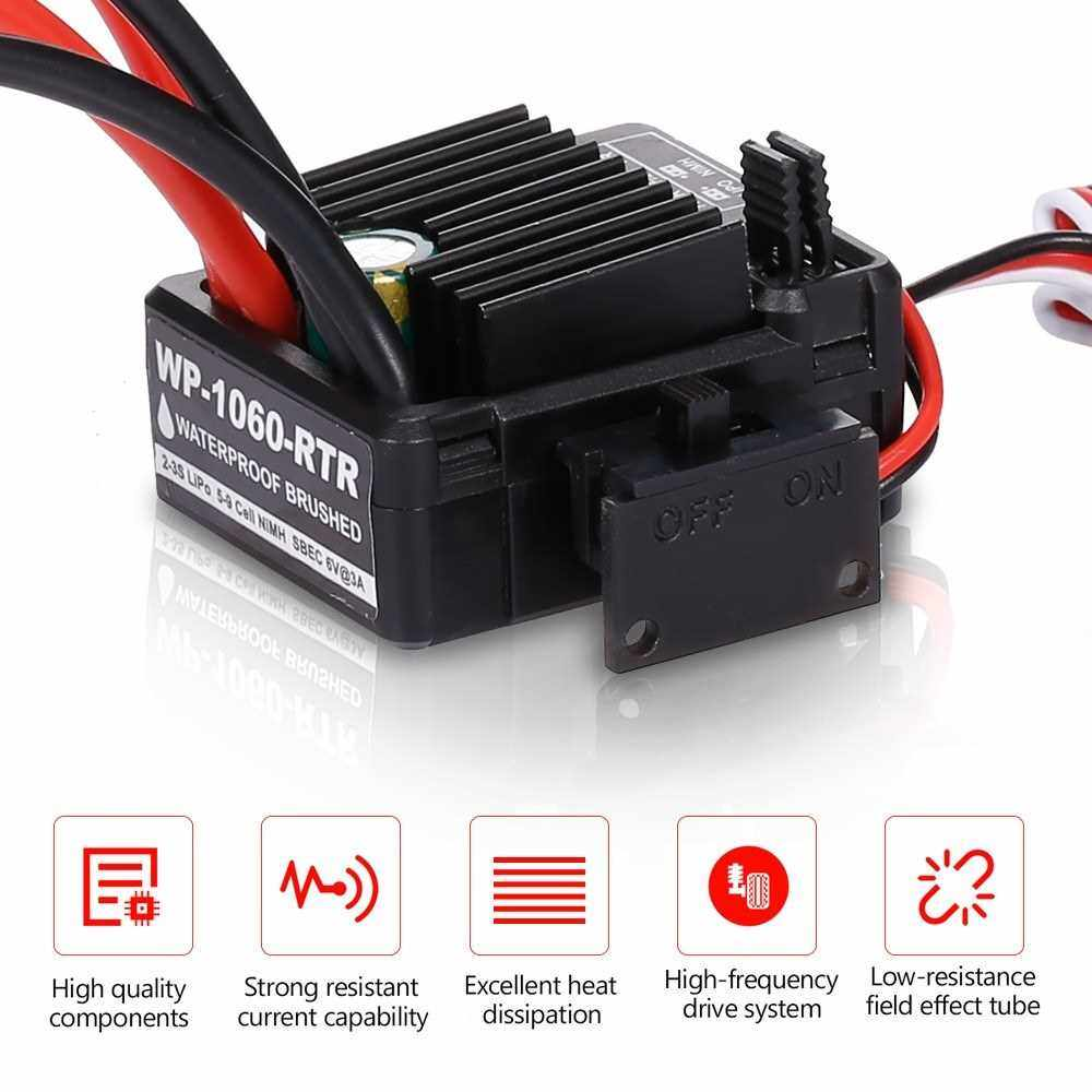 Best Selling GoolRC 540 45T Brushed Motor with 60A Brushed ESC Combo for 1/10 RC Rock Crawler Climbing Car (Multicolor)