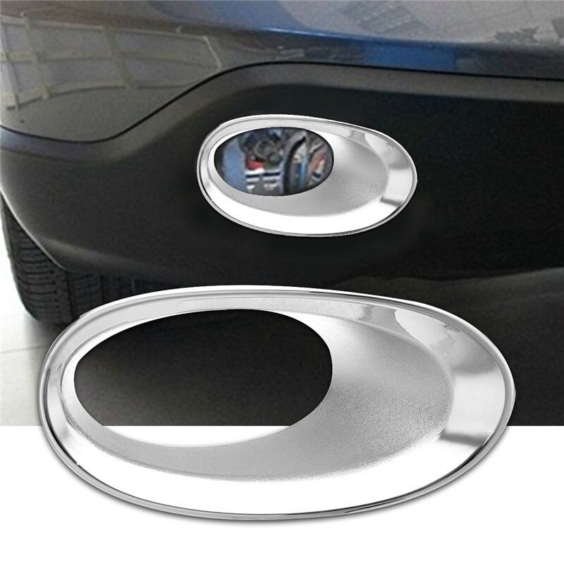 Car Lights - Chrome Fog Front Light Lamp Bumper Trim Cover Cap For Honda CRV CR-V 2010 2011 - Replacement Parts