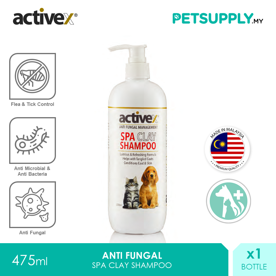 Activex Anti Fungal SPA Clay Shampoo 250ml [Perawatan Luka Skin Fur Pet Cat Dog Syampu Kucing Anjing - Petsupply.my]