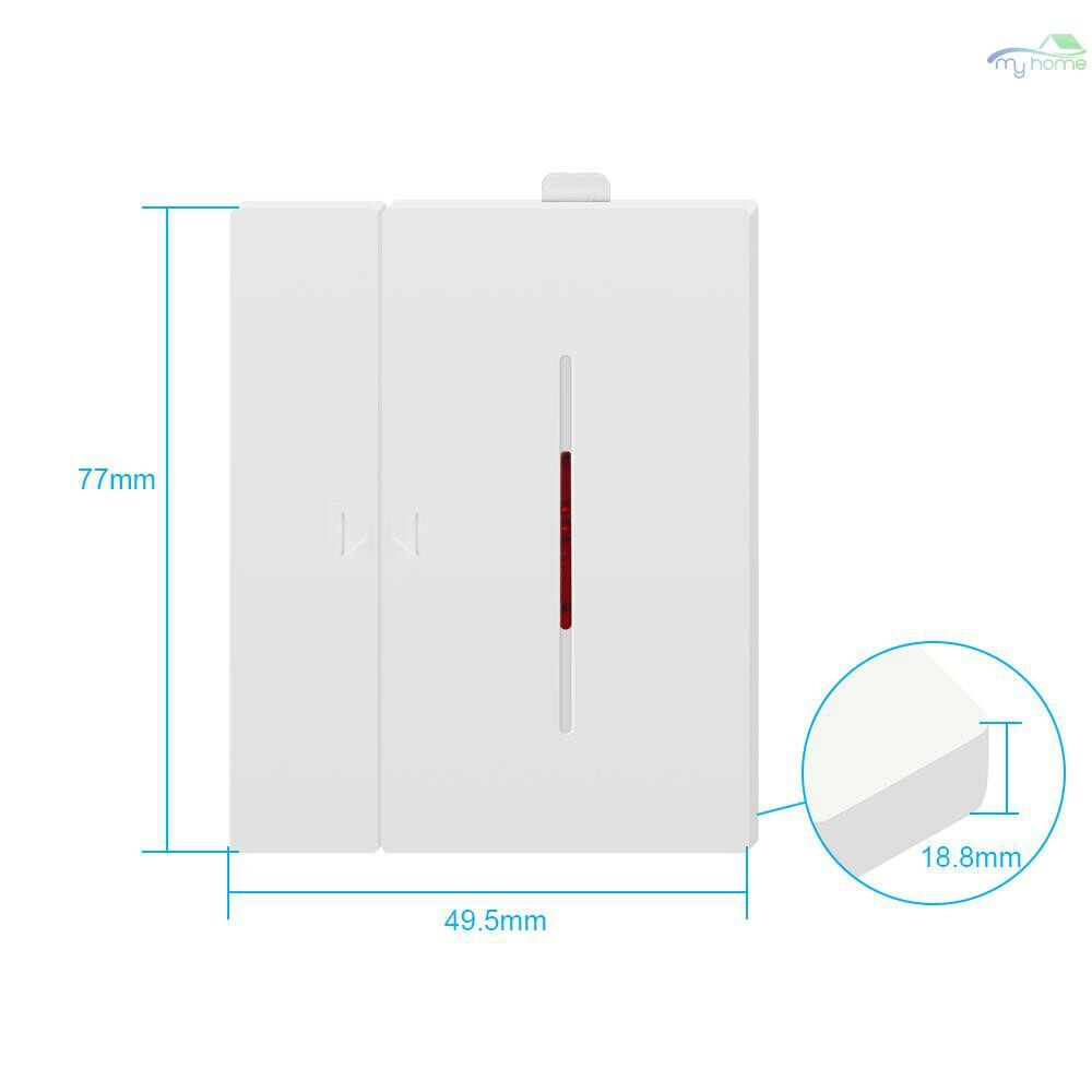 Sensors & Alarms - 5 PIECE(s) DW1 Sensor 433Mhz Door Window Alarm Sensor WIRELESS Automation Anti-Theft Alarm - WHITE-5 PIECE(s) / WHITE-4 PIECE(s) / WHITE-3 PIECE(s) / WHITE-2 PIECE(s) / WHITE-1 PIECE(s)