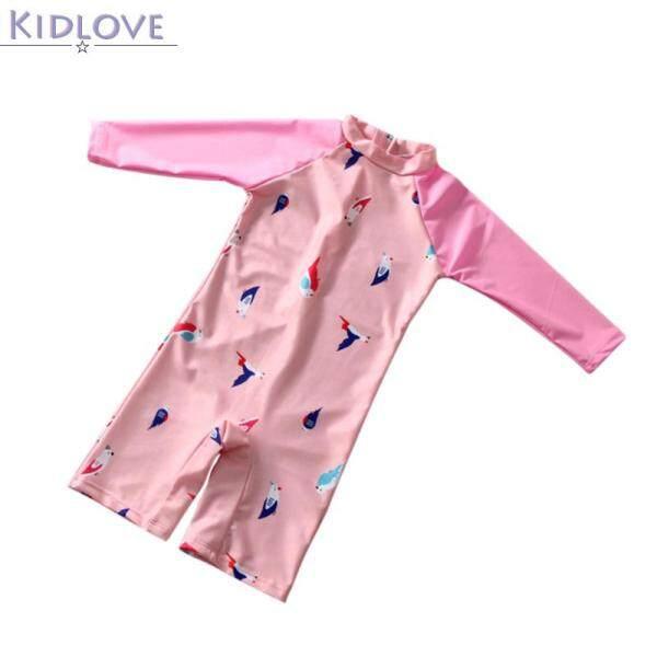 Giá bán Kidlove 1 Bộ Đồ Bơi Bé Gái Áo Liền Quần Hình Chim Dễ Thương Đồ Bơi Trẻ Em Dài Tay Chống Nắng Nhanh Khô
