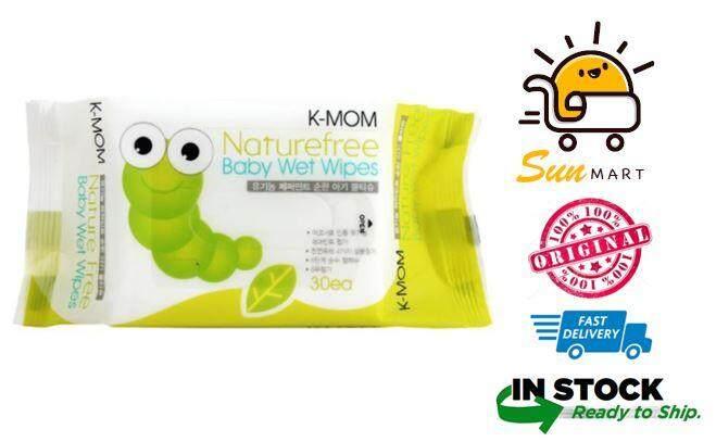 K-MOM Naturefree Organic Premium Baby Wet Wipes - 30pcs