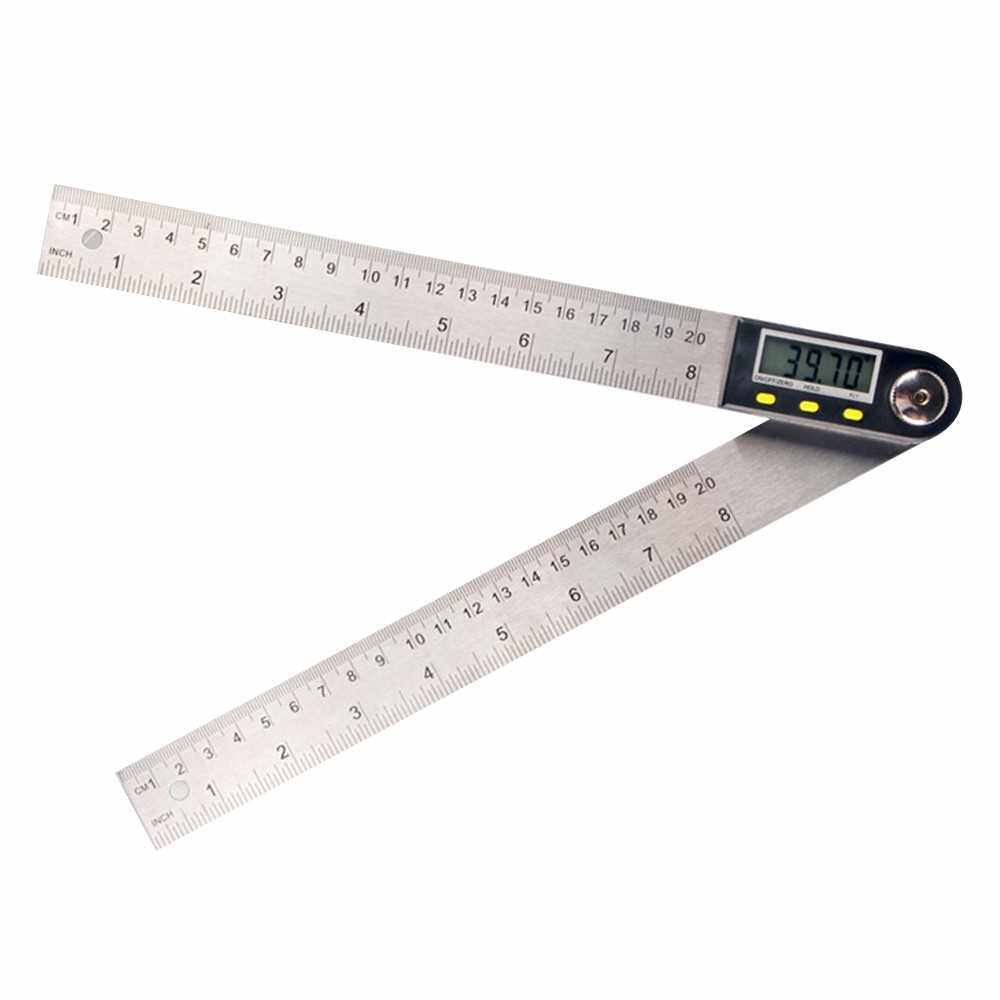 Multifunctional Digital LCD Display Angle Ruler 360° Stainless Steel Electronic Goniometer Protractor Measuring Tool with Hold and Zeroing Function (1)
