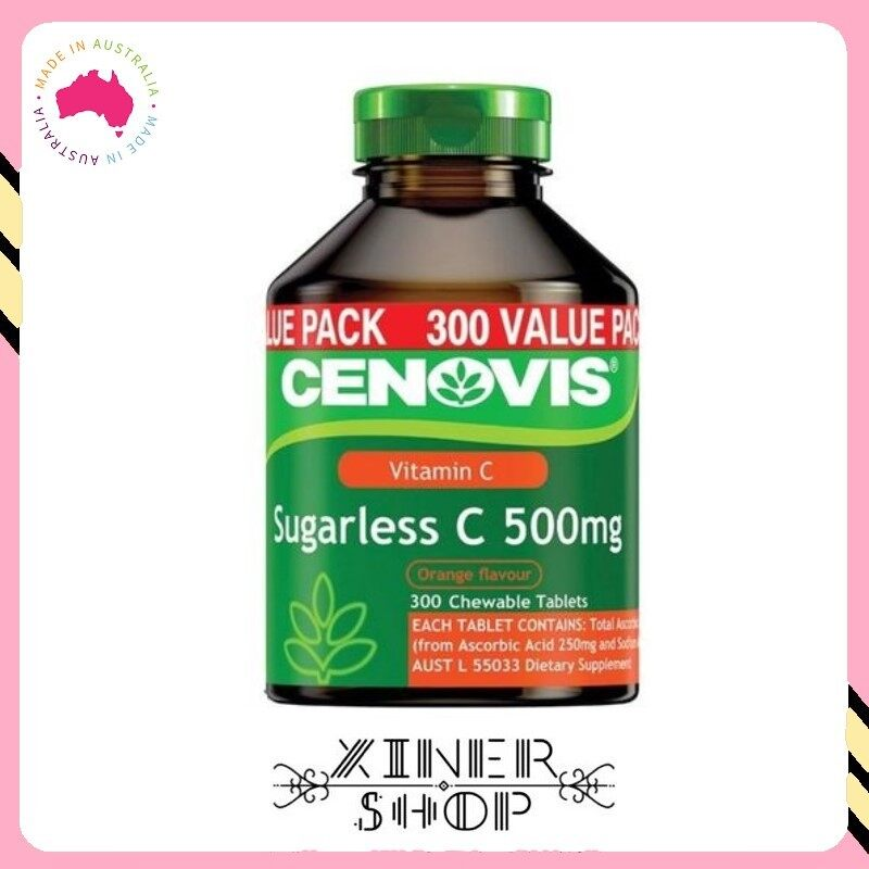 [Pre Order] CENOVIS Vitamin C Sugarless C (300 Tablets) (Made In Australia)
