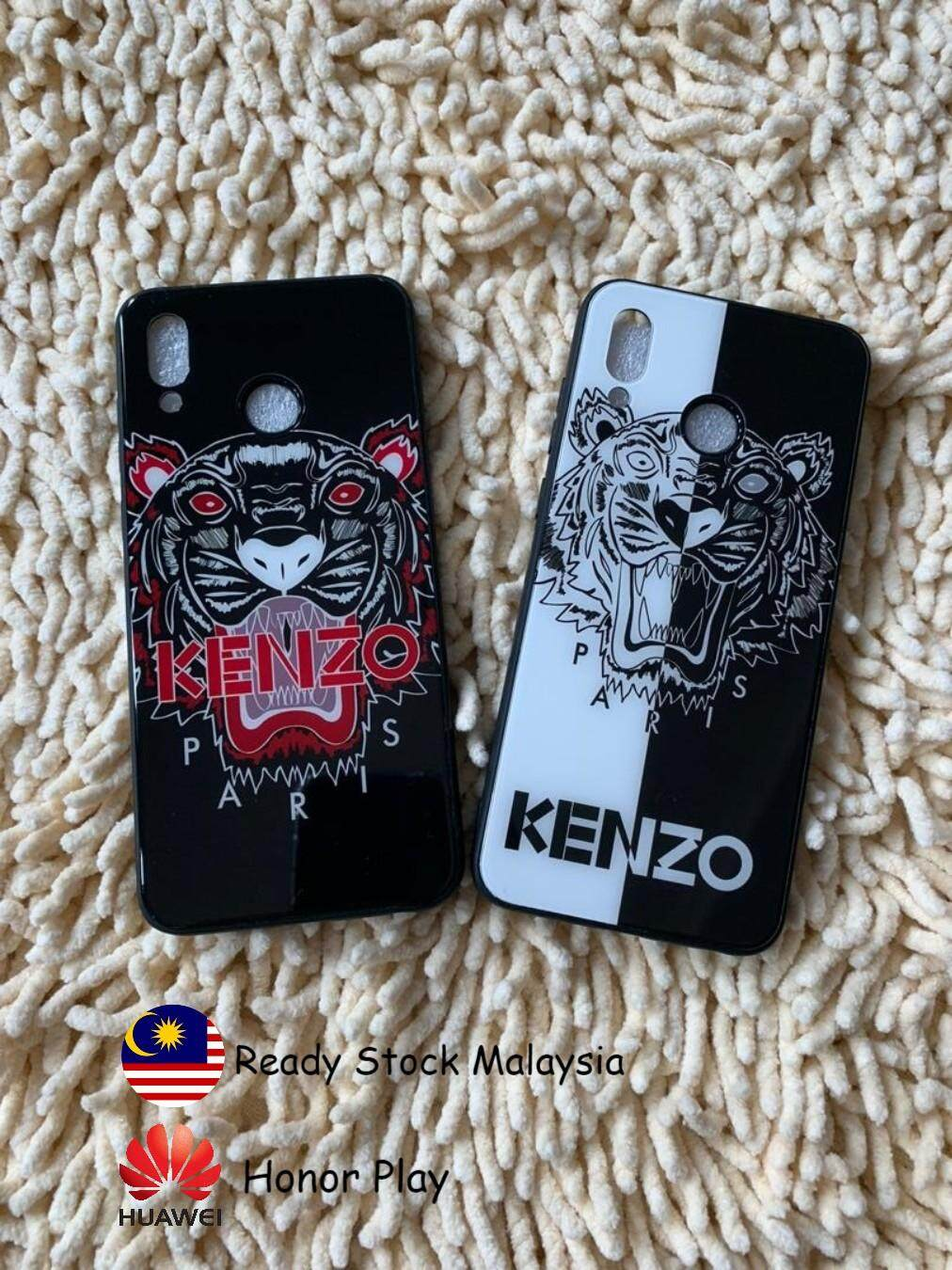 Honor play Kenzo Tiger Protective casing, Tempered Glass texture Silicone Case protection