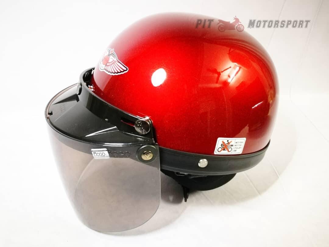 RED MHR III Half Cut Helmet / MHR 3 KYT Arai SGV AGV LS2 X-dot Givi Taichi Alpinestar NLK R15 Y15 RS150 LC135 FZ150