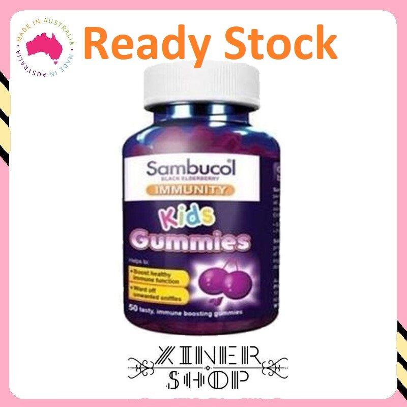 [Ready Stock EXP Date : 11/2021] Sambucol Kids Vitamin C Immunity ( 50 Gummies )(Made In Australia)
