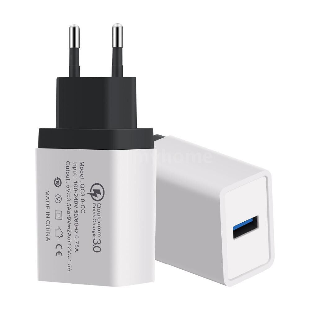 Plugs & Adapters - PORTABLE Travel Home Universal Wall Charger QC3.0 Quick Charge Fast Charging US/EU Plug USB Charger - Home Improvement