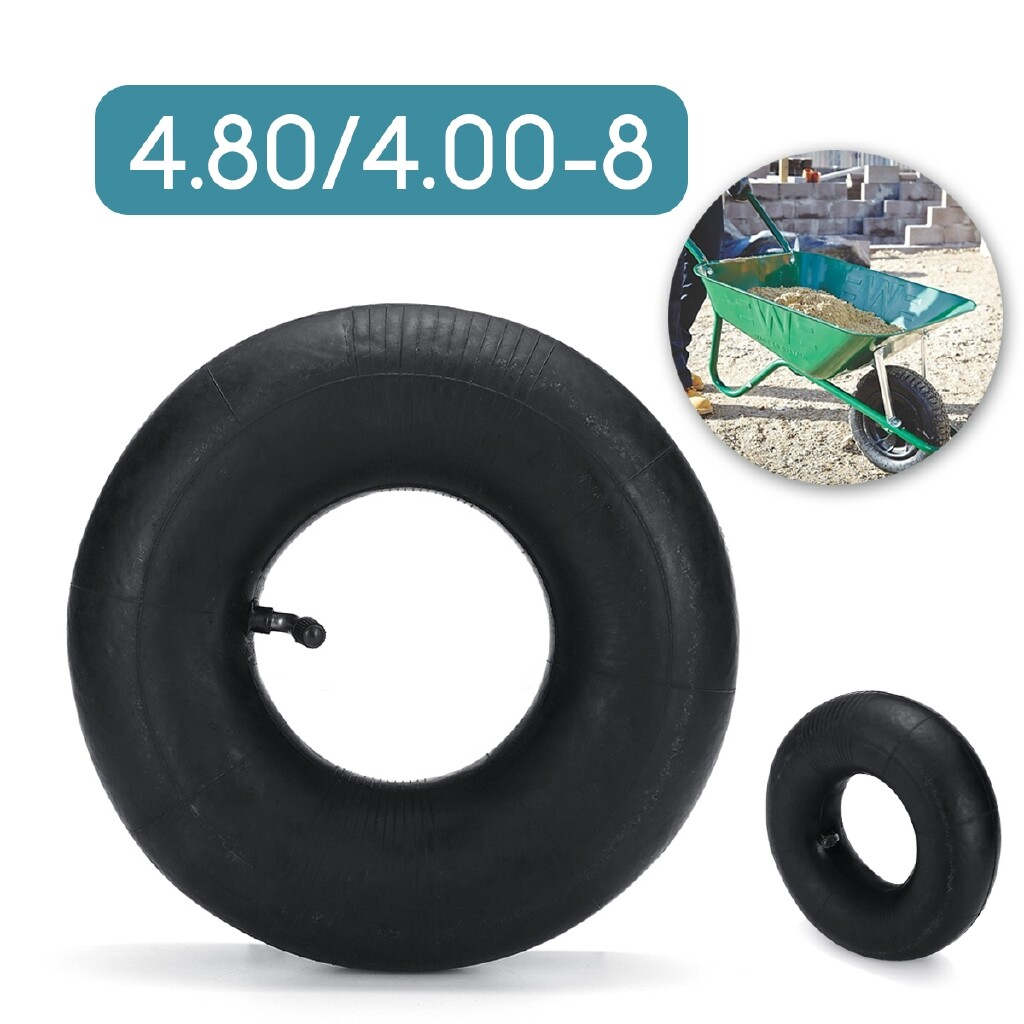Moto Accessories - 4.80 / 4.00 - 8 Inner Tube Tyres Bent Air Valve For Pneumatic Trolley Cart Wheel - BUTYL RUBBER / NATURAL RUBBER