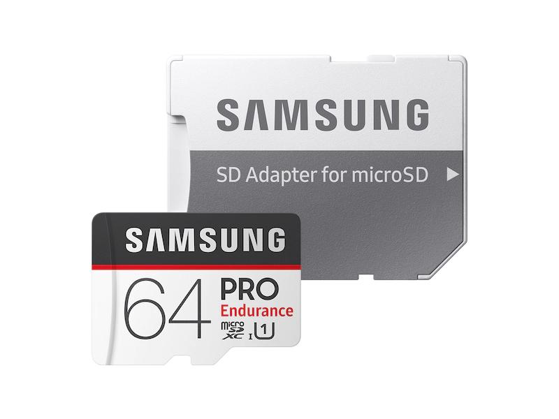 Samsung Pro Endurance 32GB 64GB 128GB 100MB/s Class 10 microSD Memory Card Video Monitoring MicroSDXC for CCTV Dash Cams & Home Security Cameras