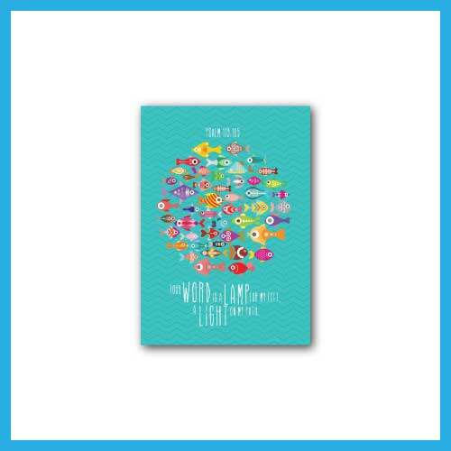 Ouranos Art Christian Gift For Student Children English Scripture A6 Notebook