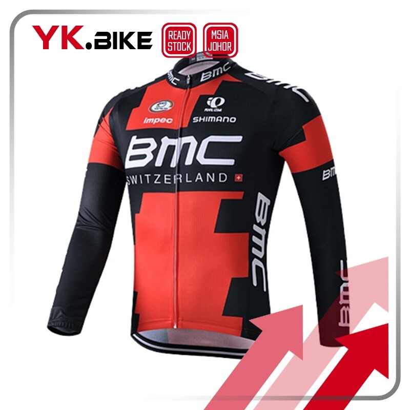YKBIKE [LOCAL READY STOCK] Red Cycling Jersey Long Sleeve Gel Padding Pant Race Cycling Clothes Cycling Bicycle Team Jersey APL59