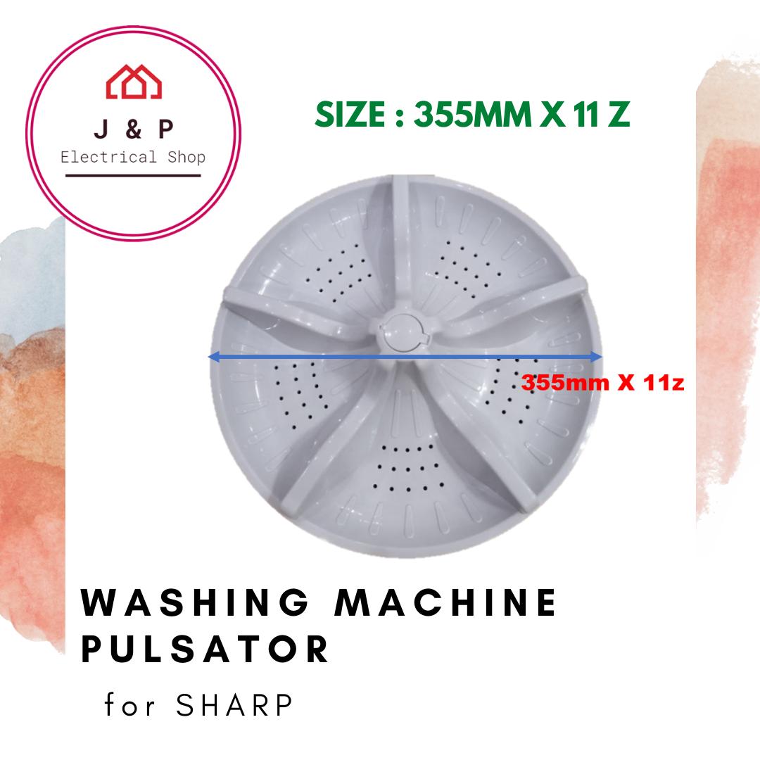 SHARP WASHING MACHINE PULSATOR (ESX 805 / ESX 905)_ 355mm X 11 z [ READY STOCK]1378504455-1598442294754-0