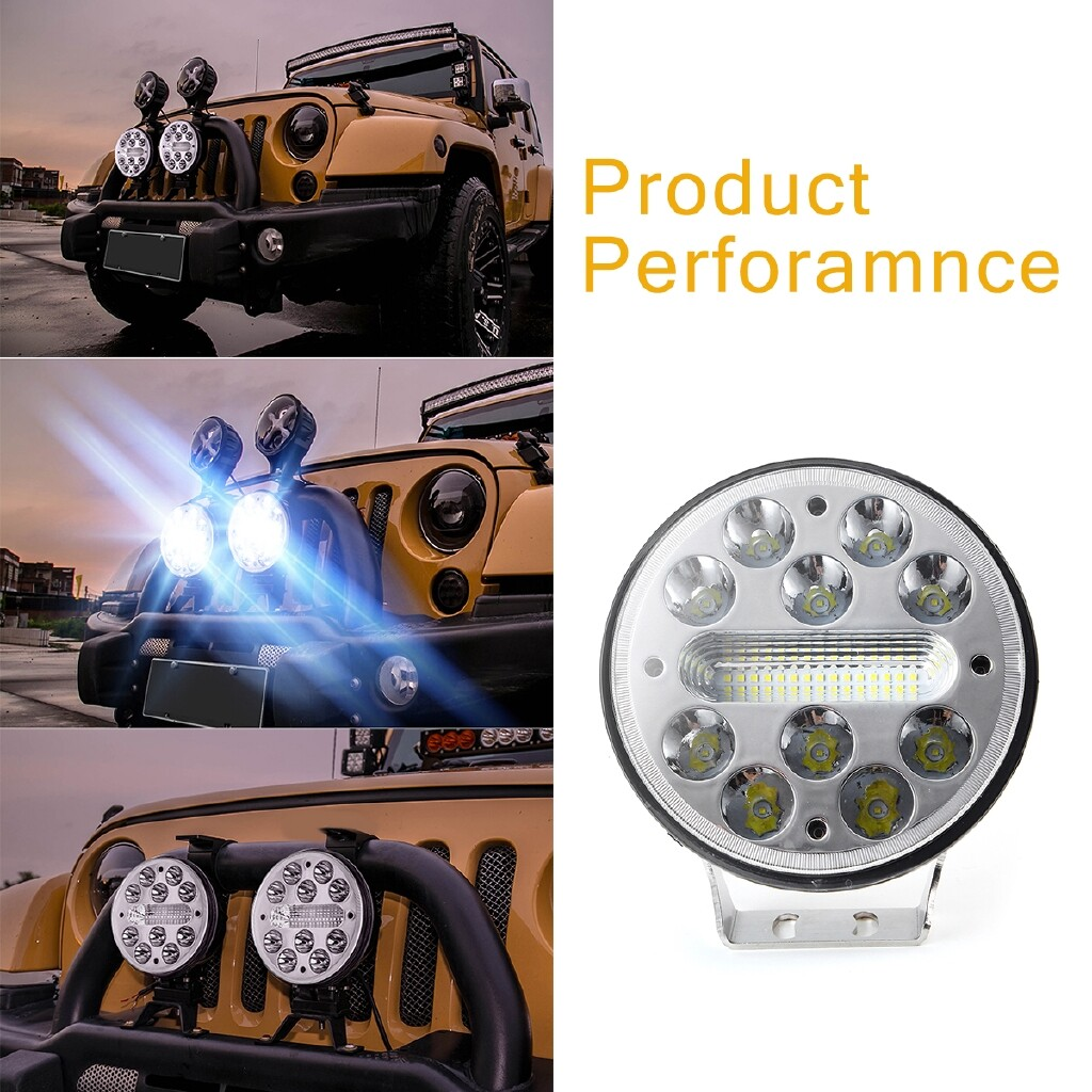 Car Lights - LED Work Light LED Driving Light Spot Flood Round Driving Fog Lamp Offroad ATV Van 4WD 9-32V - Replacement Parts
