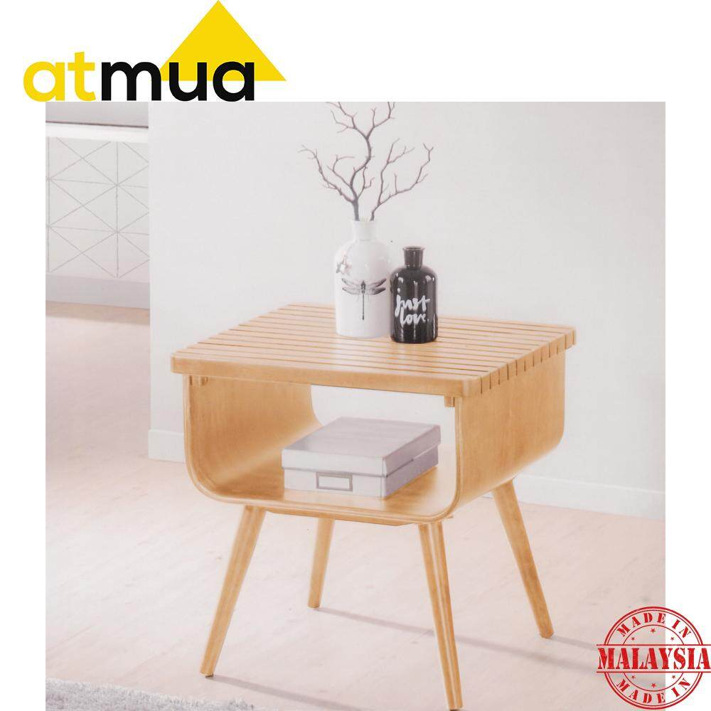 Atmua Slate Side Table Sofa Table Meja Tepi Full Solid Rubber Wood 2019 / 2020 Latest Design Furniture Designer Choice For Apartment / Condominium / Landed House *Easy Assembly