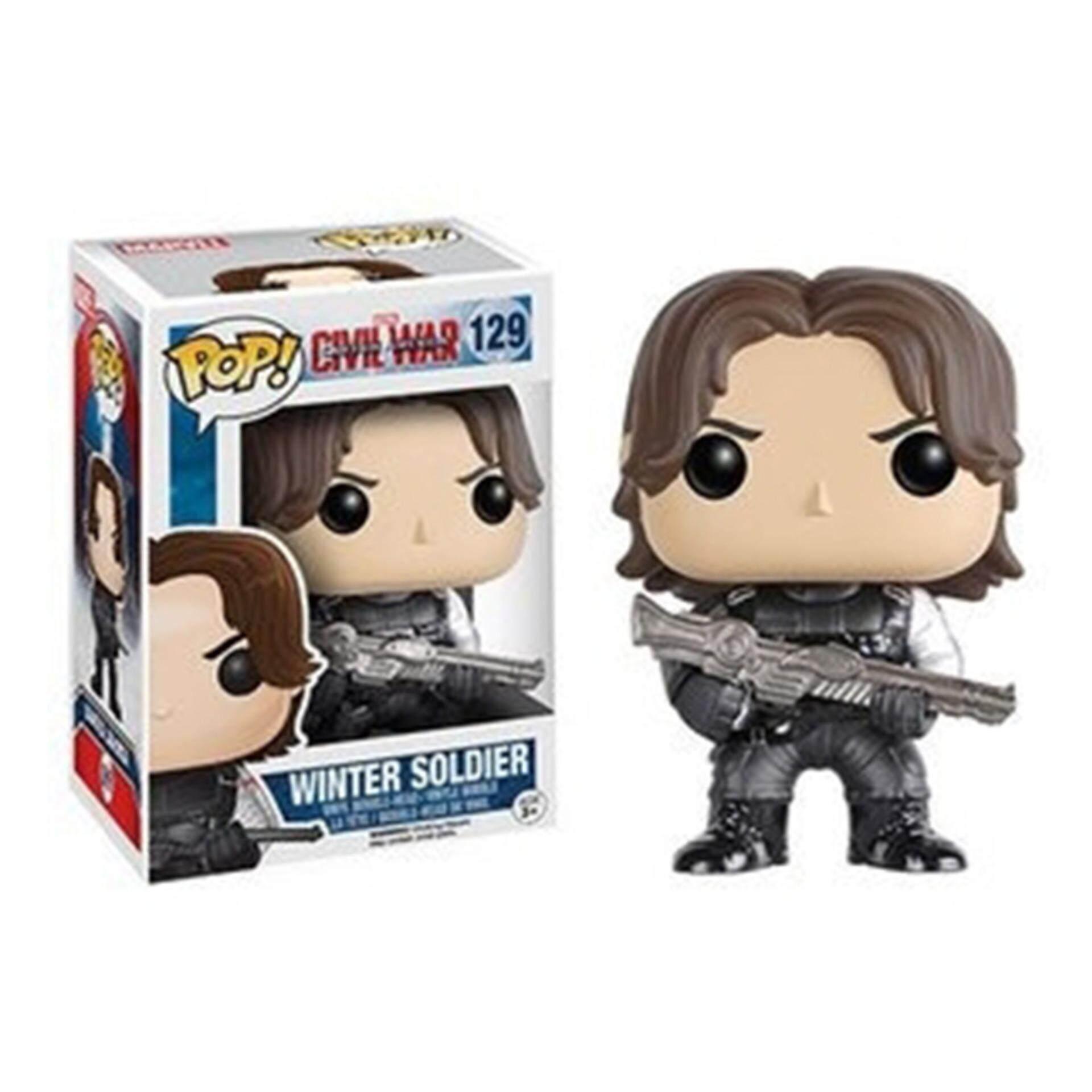 FUNKO POP! Marvel Captain America Civil War - Winter Soldier Toys for boys
