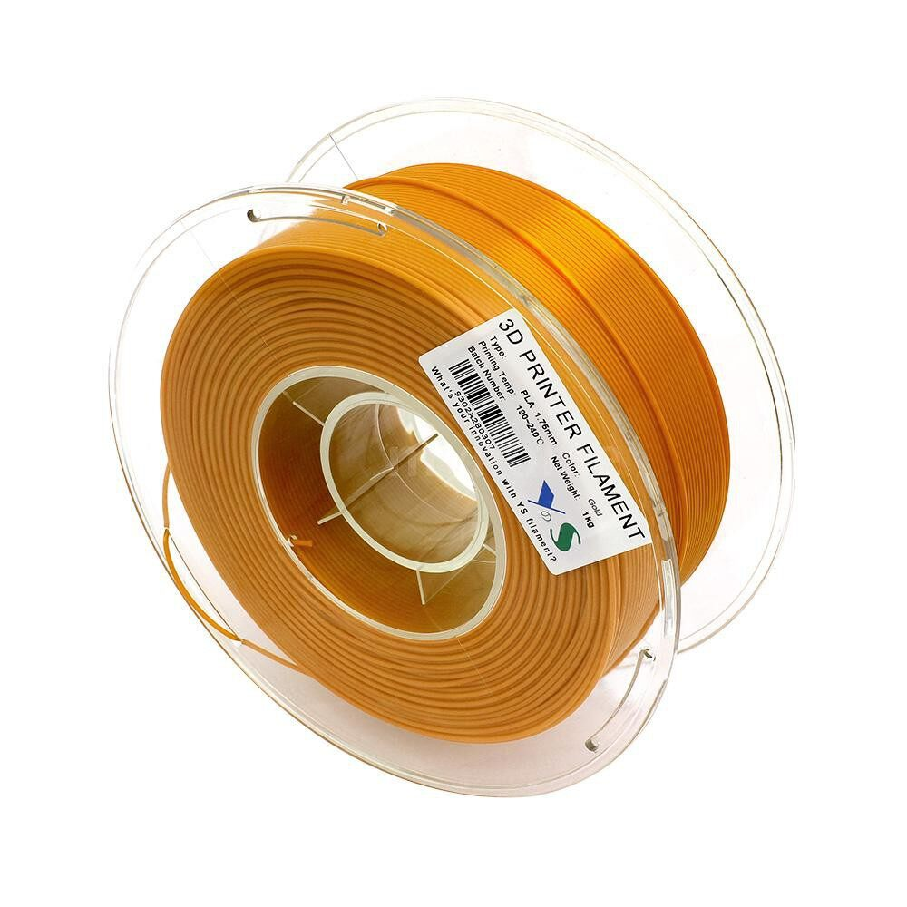 Printers & Projectors - 3D PLA Filament 1.75MM High Tenacity Dimensional Accuracy No Clogging Filaments Printing - ORANGE / PINK / YELLOW / GREEN / BLUE / PURPLE / GREY / CHOCOLATE / NATURE / RED / GOLD / CHRISTMAS GREEN / BLACK / WHITE / GALAXY BLUE