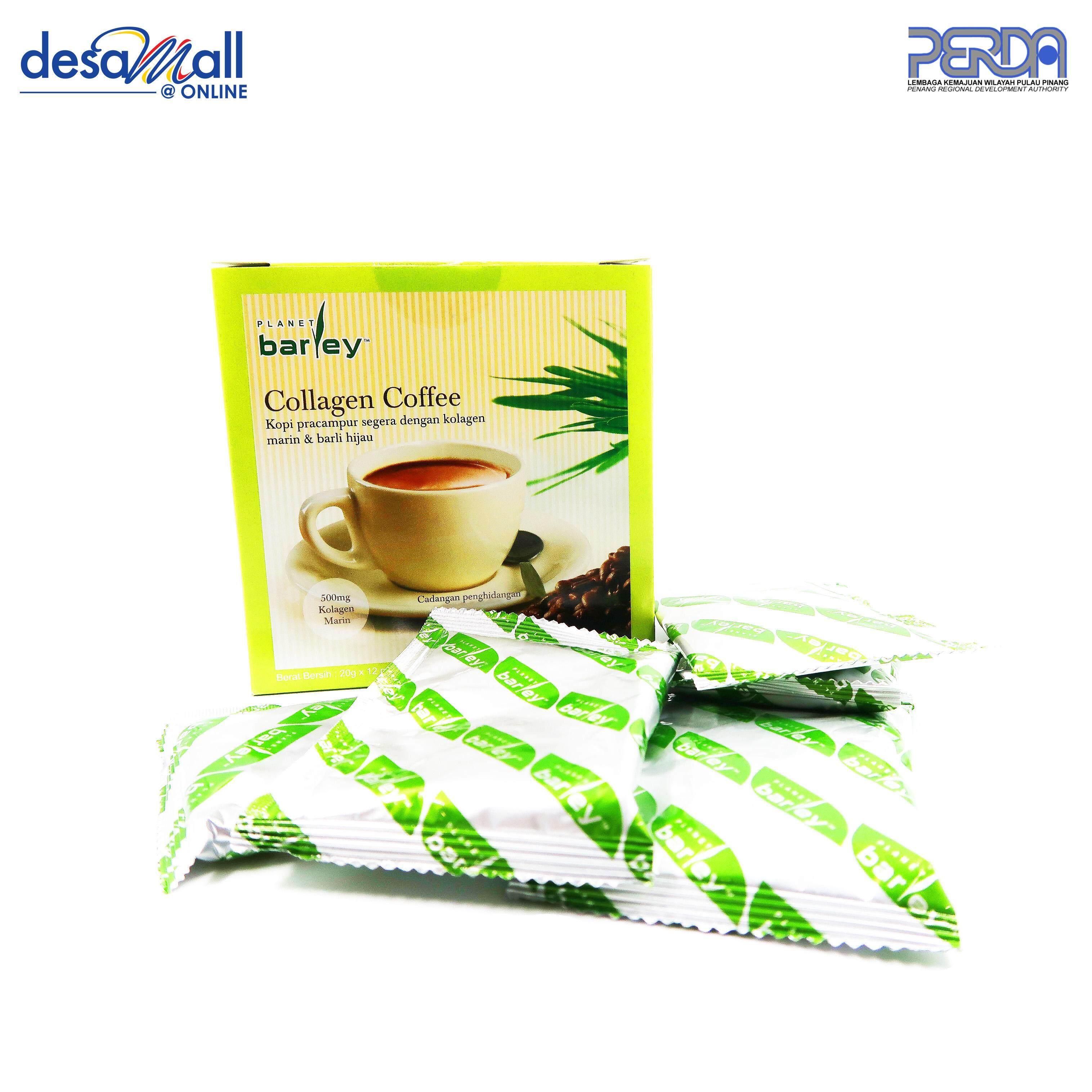 Collagen Cofee Kopi Pracampur Segera Dengan Kolagen Marin dan Barli Hijau (20gm x 12 paket)