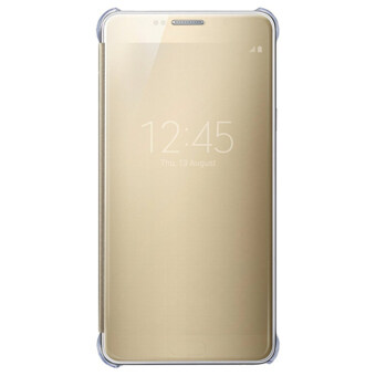 Clear View Cover Case for Samsung Galaxy A9 Pro 2016 (Gold)
