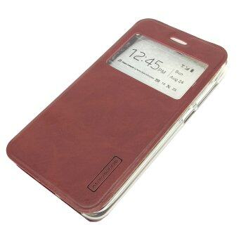 Cover Flip Case For Samsung Galaxy J710 / J7 2016 (Brown)
