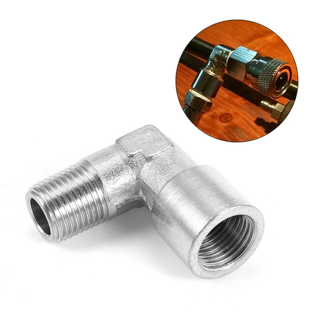 Car Accessories - Stainless Steel PCP CO2 Air Paintball 90 Degree Elbow Air Fitting 1/8NPT - Automotive