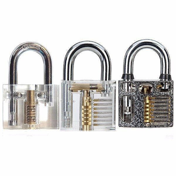 Cool Gadgets - 3 PIECE(s) Cutaway Inside View Of Practice Padlocks Lock Pick Tools LockDB - Mobile & Accessories