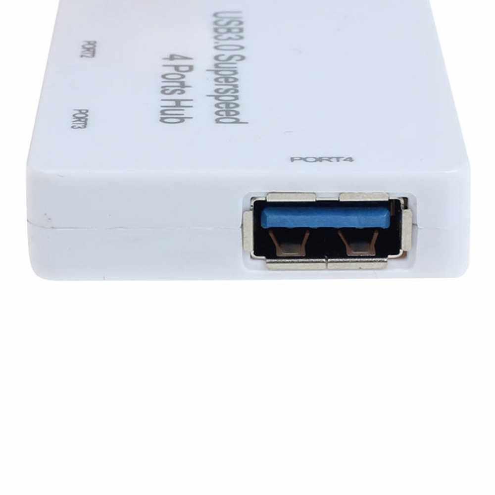 High-speed USB 3.0 Hub 4 Port USB Splitter USB Hub 3.0 Adapter Laptop Accessories for PC Computer (White)