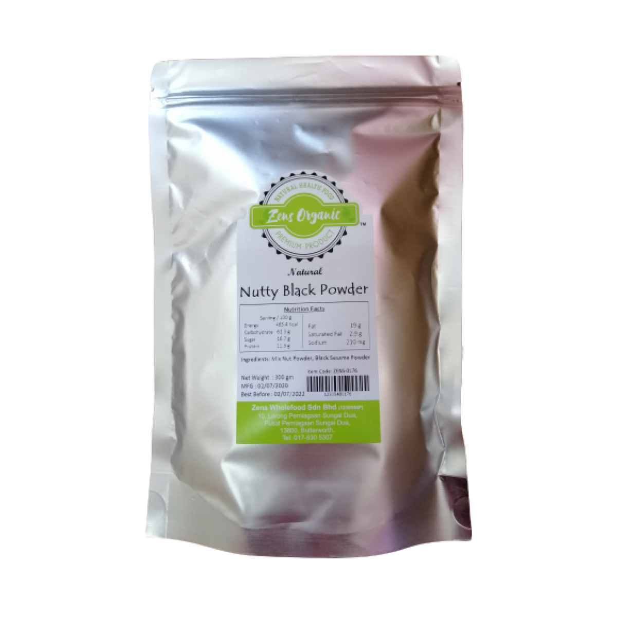 Zens Organic Natural & Organic Nutty Black Powder 300g