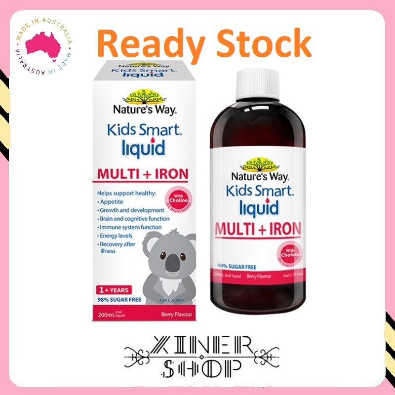 [Ready Stock EXP Date: 08/2021] Nature's Way Kids Smart Liquid Multi + Iron ( 200ml ) (Made In Australia)
