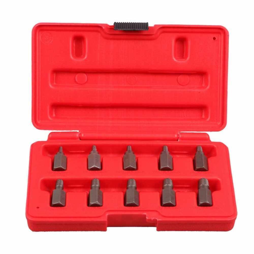 10Pcs Multi Spline Screw Extractor Kit Broken Screws Pipes Accessories Automatic Hand Tool (Standard)