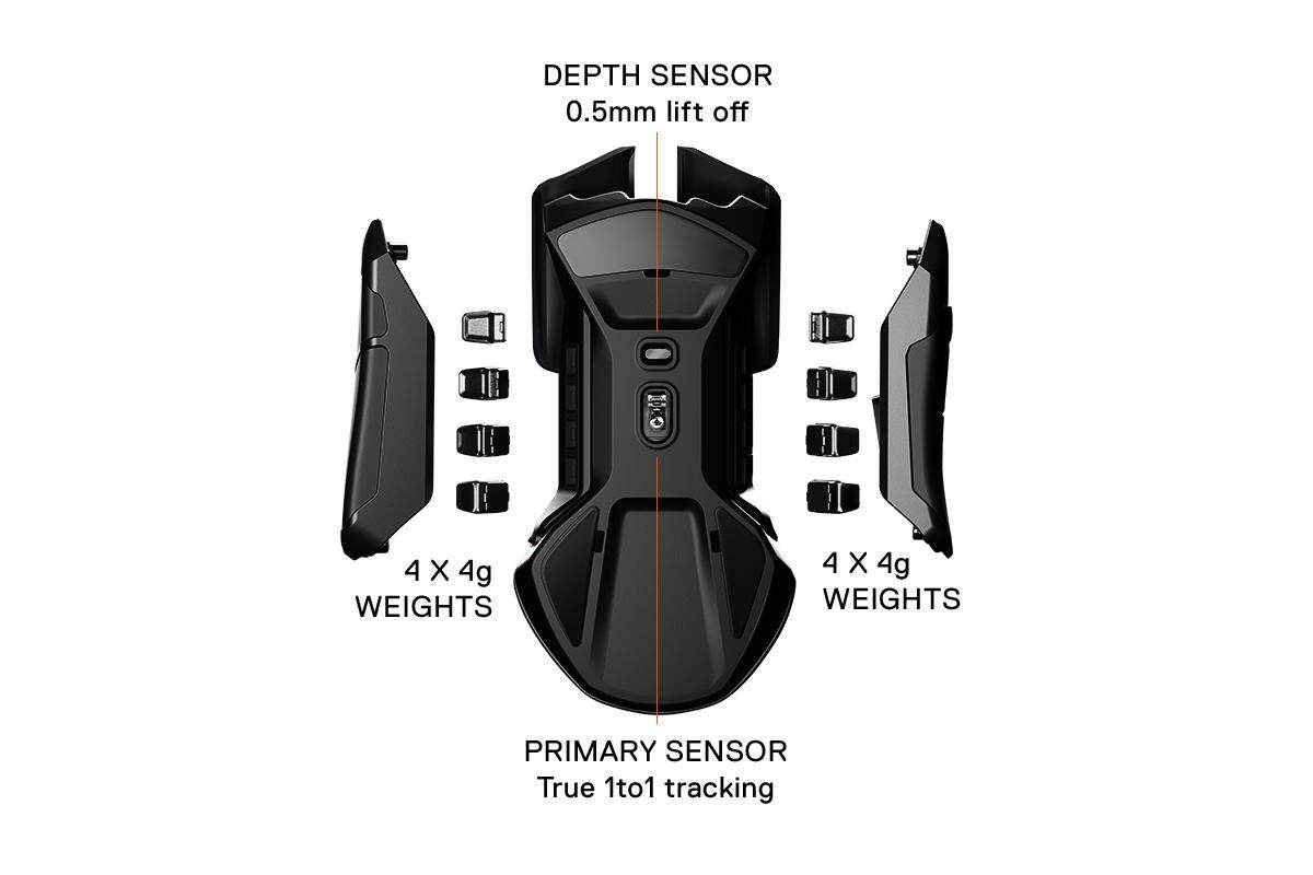 Steelseries Rival 600 wired optical gaming mouse (62446), Black, Optical Depth Sensor, Lightweight, 32-bit ARM Processor, 100–12000 in 100 CPI Increments