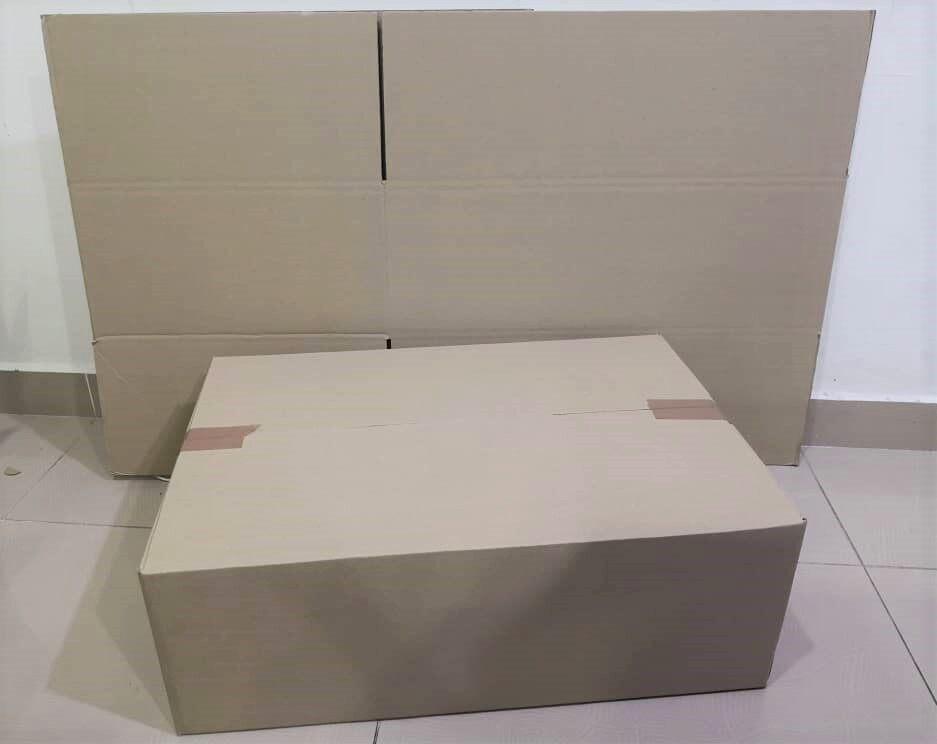 5pcs Plain Carton Boxes (L642X W436 X H220mm)