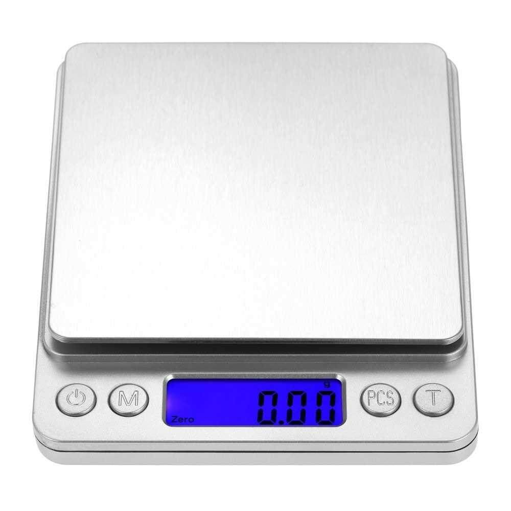 500/0.01g Accurate Kitchen Scale High-precision Jewelry Scale Mini Food Scale Electric Kitchen Scale with Two Trays Kitchen Baking Scale Pocket Scale