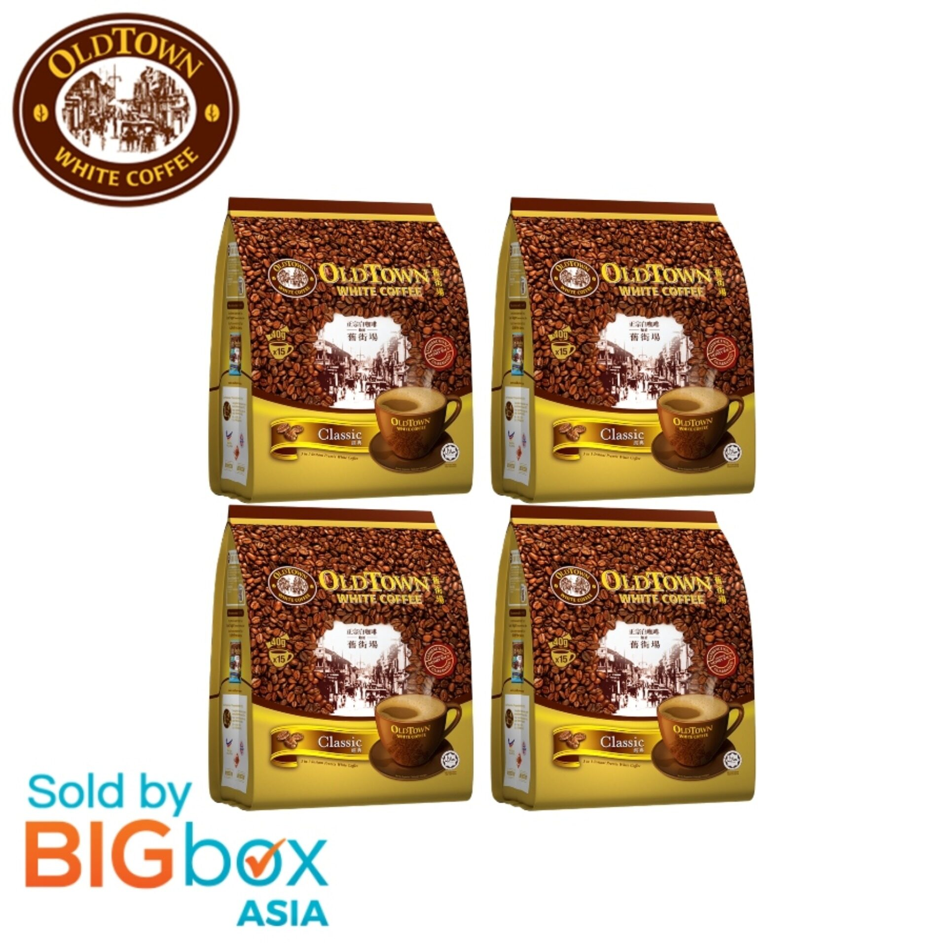 [BUNDLE 4] OLDTOWN White Coffee 3in1 570g (38g x 15s) - Classic