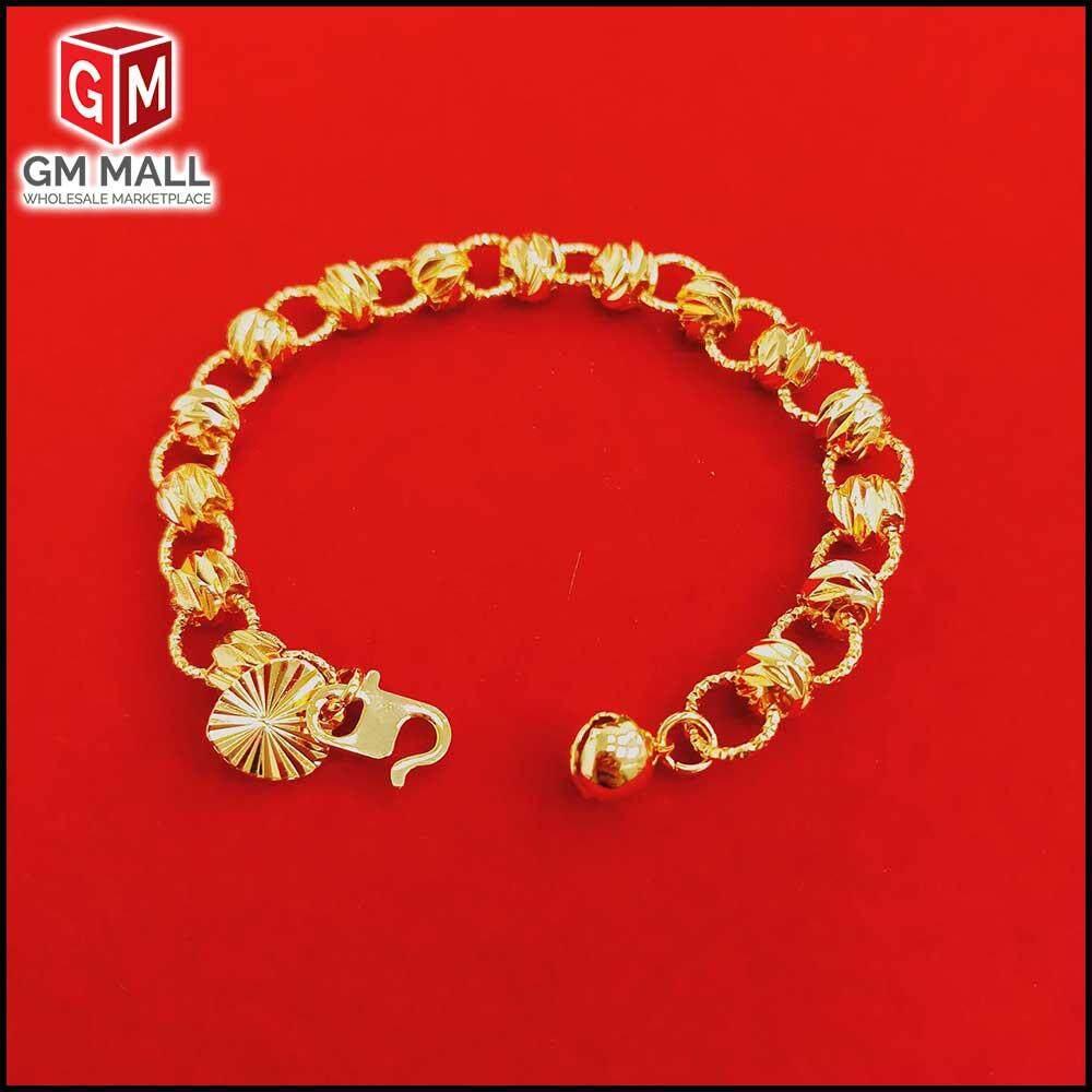 Emas Korea Jewellery - Gelang Tangan Bulat Sabit Kikir Gold Plated (EK-2041-6)