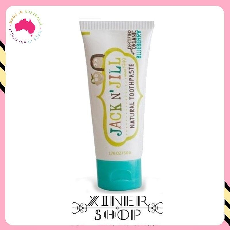 [Pre Ordert] Jack N Jill Kids Toothpaste Organic Blueberry Flavour ( 50g )(Made in Australia)
