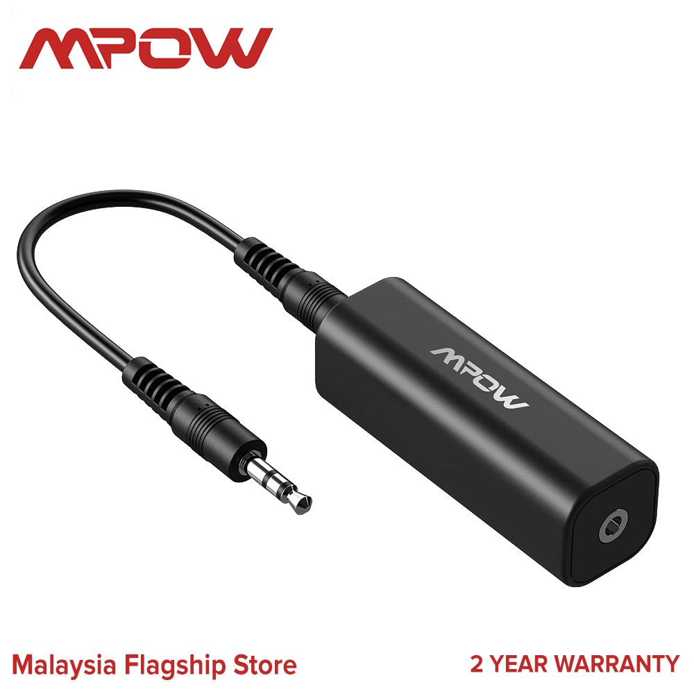 Mpow MA1 Ground Loop Noise Isolator for Car Audio/Home Stereo System with 3.5mm Audio Cable
