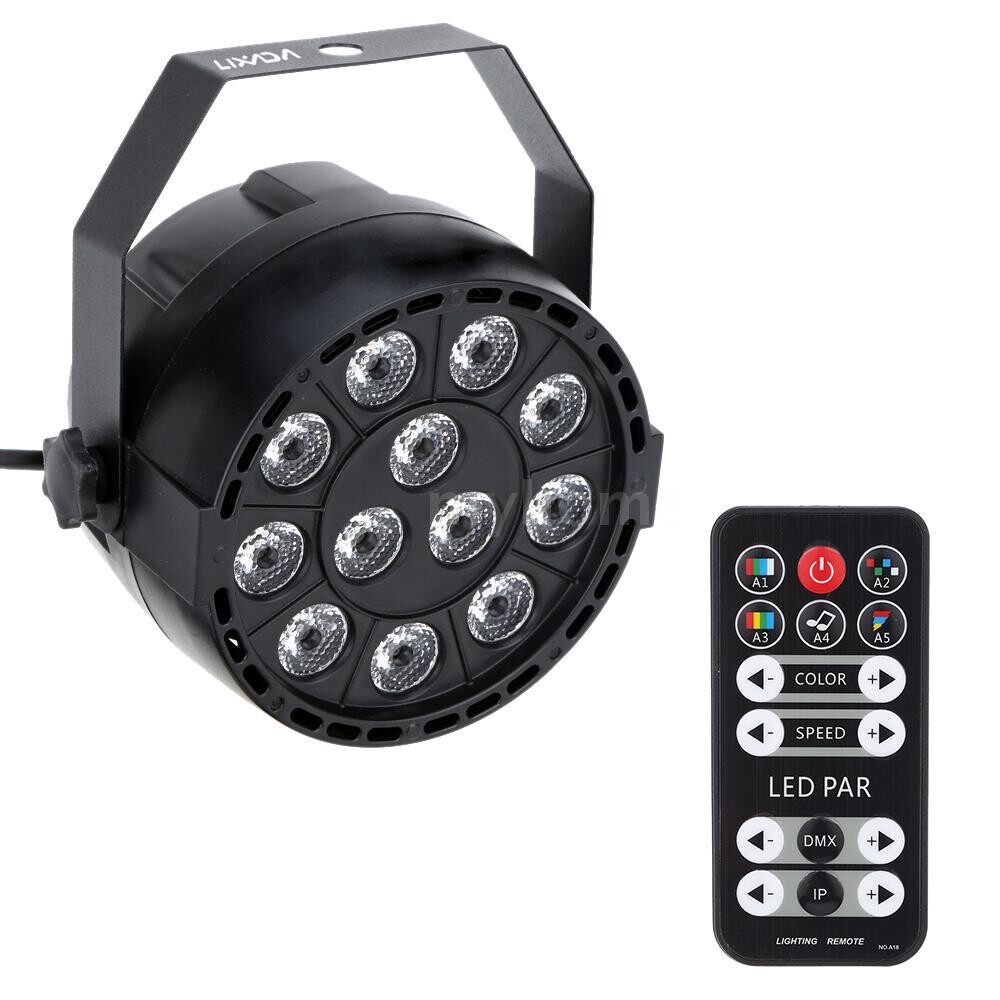 Lighting - 15W 8 Channel AC 100-240V DMX-512 Strobe RGBW LED Stage PAR Light with Remote Controller - Home & Living