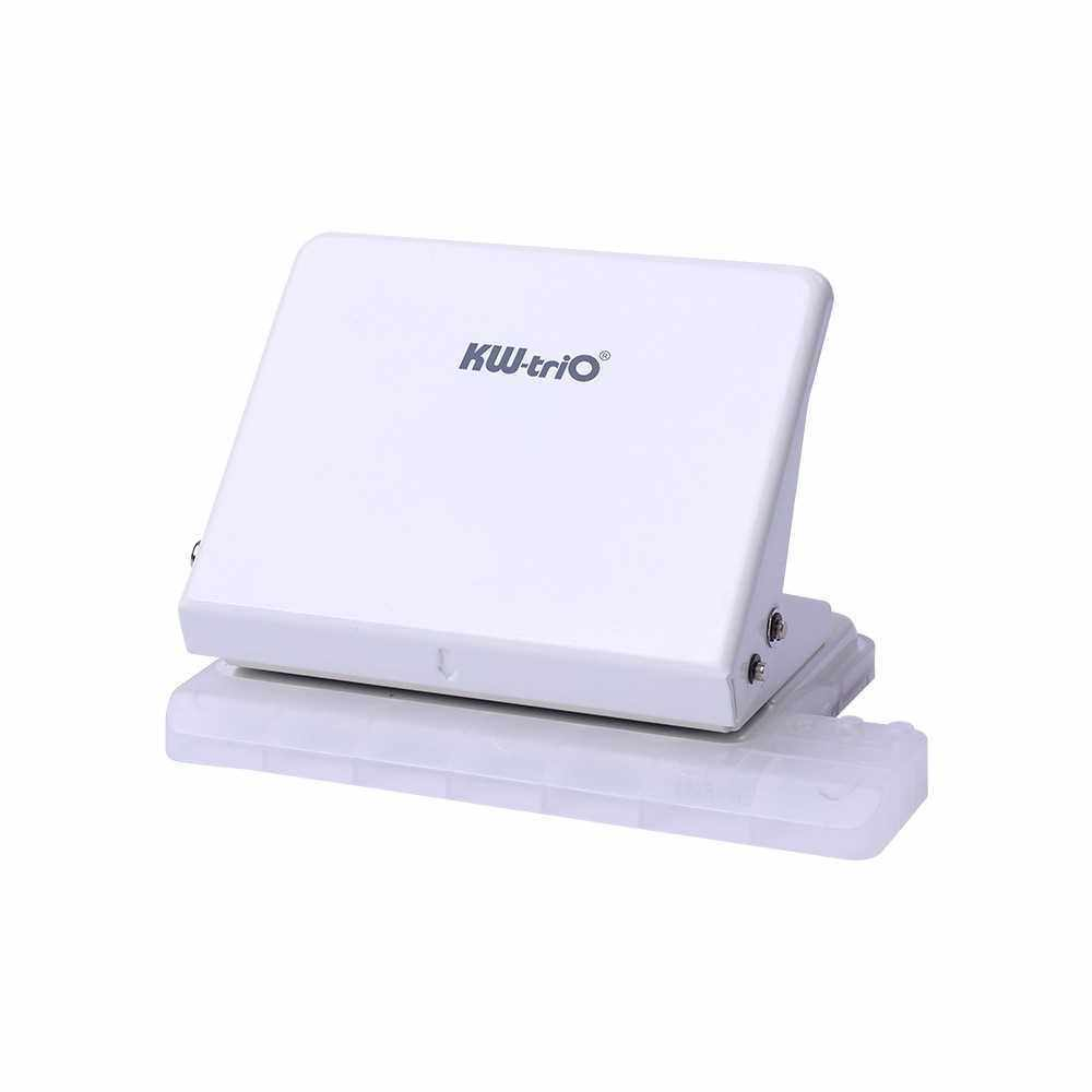 KW-trio Desktop Metal Hole Punch 10 Sheet Capacity Loose Leaf Paper Hole Puncher Reduced Effort Office School Supplies for A4 30 Holes/A5 20 Holes/B5 26 Holes (W)