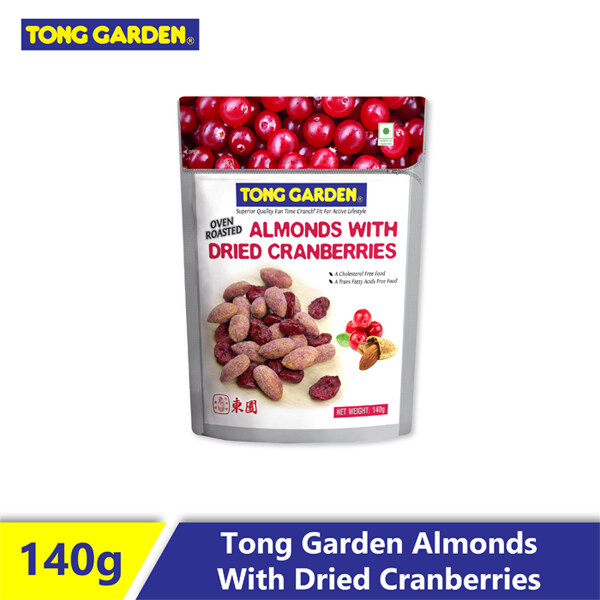 Tong Garden Oven Roasted Almonds with Dried Cranberries 140G
