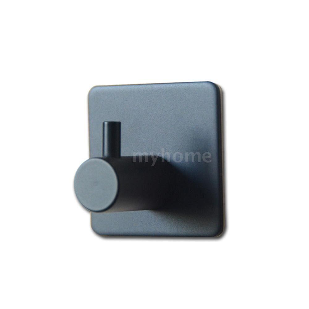 Home Storage & Organization - MYD-1014 Adhesive Hooks Towel Hooks Self Adhesive Hooks Stainless Steel Stick Hooks Hanging Towel - BLACK / SILVER